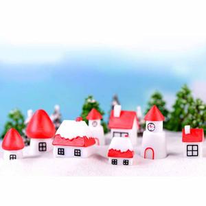 8шт / серия Миниатюрного дома Fairy Garden Статуэтка Doll House Decor Подарочной коробка Террариум аксессуары для рождественских украшений