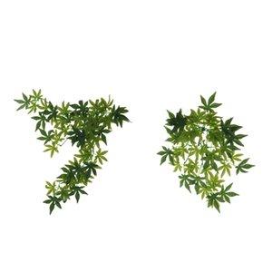 2 PCS Reptile Habitat украшения, искусственные листья растений по 1.6ft Fish Tank вивария Террариум Micro Декоративное присосками Включенные