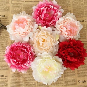 Hot Sale 12CM Artificial Flowers Silk Peony Flower Heads Party Wedding Decoration Supplies Simulation Fake Flower Head Home Decorations