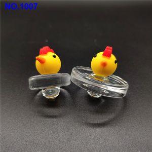 Burbuja popular hecha a mano de cristal de silicona cúpula de estilo Carb Cap Glass UFO Carb del sombrero del casquillo de cuarzo cuarzo cacharro térmica gg Banger Nails