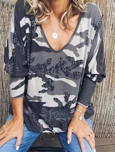 2020 Winter Spring Women Tops Plus Sizes Tees Camouflage Femme Shirts Hoodies Loose Casual Befree Boho Full Long Sleeve
