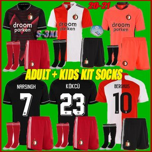 Adulti + bambini kit calzini 20 21 Feyenoord pullover di calcio 2020 2021 LARSSON v.persie Berghuis VILHENA Feyenoord calcio Maglia Shirt