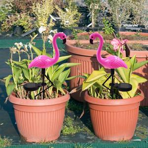 Solar Rasen Licht Flamingo Licht LED Laterne dekorative Outdoor Rasen Hof Lampe solarbetriebene Weg Lichter für Gartenterrasse 6St