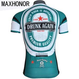 Mens ciclismo top in jersey birra maglia vestiti di riciclaggio di usura di usura della bicicletta maxhonor moto retrò può essere personalizzato