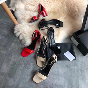 Classique sandales européenne 2019 nouvelles femmes d'été de dame actrice en peau de mouton importées tapis rouge tempérament parti femmes chaussures de talons hauts