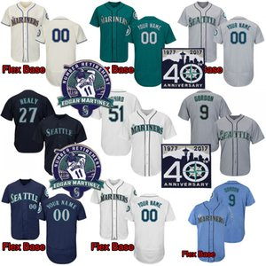 남자 51 이치로 스 즈키 24 kengriffeyjr. 22 Robinson Cano 34 Felix Hernandez 51 Randy Johnson 11 Martinez 10 Edwin Encarnacion Baseball Jersey