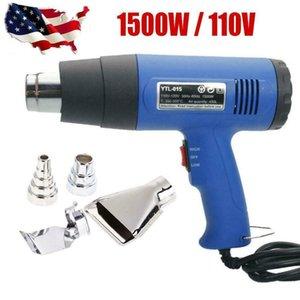 New 1500W 110V Heat Gun Hot Air Wind Blower Dual Temperature with 4 Pcs Nozzles