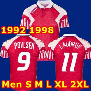탑 태국 레트로 덴마크 축구 유니폼 1992 1998 덴마크 홈 원정 HEINTZE B.LAUDRUP M.LAUDRUP (92) (98) 축구 셔츠