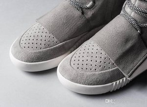 Hot Sale- shoes Kanye West 750 Boots Men Glow Dark Light Grey Triple Black High Ankle Sport Shoes women Sneaker Skateboard Shoes size 36-46