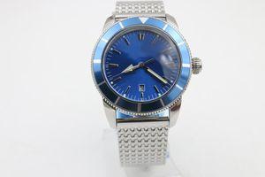 Luxo Superocean 44mm azul face Pin fivela Frete grátis relógio dos homens casual Sapphire fivela original Estilo Clássico presente de Natal