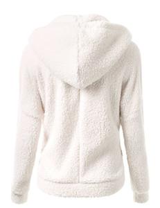 Yeni Kış Sonbahar Sıcak Ceket Kapşonlu S-5xl Rahat Kadın Kazak Ceket Katı Yumuşak Polar Kadın Ceket Ss214