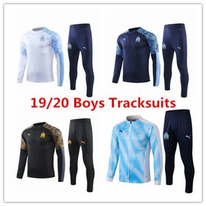 셔츠 Payet 아동 겨울 코트 키트 교육 어린이 Thauvin 19 20 마르세유 아이 재킷 Ocampos 소년 옷 운동복 축구 유니폼