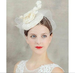 Face Veil Hats For Women Bridal Lace Wedding Hats And Fascinators 2019 Linen Tulle Women Party Hair Accessories European