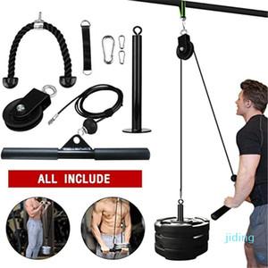 All'ingrosso-fitness fai da te Pulley Tv via cavo attacco Forza Sistema Braccio bicipiti tricipiti Blaster mano Trainning casa allenamento di ginnastica attrezzature