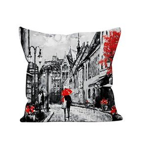 True love forever Cushion Cover Throw Pillow Covers Black & Red Paris Eiffel Tower Modern Couple Style Decorative Pillow Cases