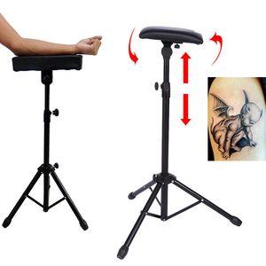 New Adjustable Height Tripod Stand Metal Bracket Tattoo Arm Leg Rest Sponge Pad