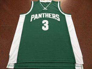 Custom Men Youth women Rare Green Pantherss # 3 A. Davis College Basketball Jersey Tamaño S-4XL o personalizado cualquier nombre o número jersey