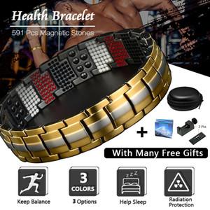 Titane magnétique Bacelets en acier inoxydable Bracelet extensible élastique pour les hommes d'énergie Santé Bangle Analgésique Mode pour hommes