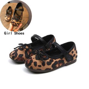 Girl Butterfly-knot Princess Leather Shoes Girls 2019 Spring Fashion Leopard Print Casual Shoes Children Sneakers #13