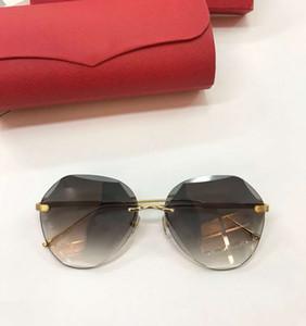 Super Alta Qualidade Polígono Frameless Óculos De Sol Das Mulheres Moda Óculos de Proteção UV Armação de Metal Marca Designer Óculos Óculos Ao Ar Livre W