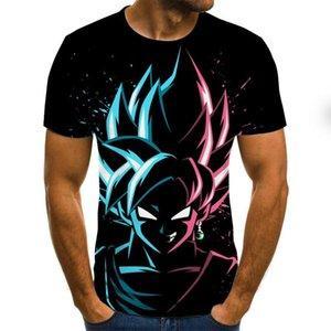 Conducir la camisa de Dragon Ball Boy 3D imprimió la camiseta de manga corta unisex del verano de Dragon Ball Z Camiseta Camiseta Hombre T Marca