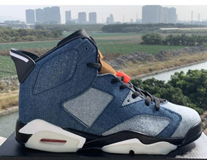 Newest 6 Blue Washed Denim Varsity Red Black Men Basketball Designer Sneakers 6s cowboy jeans mens Sports Shoes With Box CT5350-401