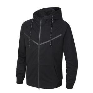 Осень и зима Спорт Досуг Мужчины с капюшоном свитер хлопка новой марки человека пальто Плюс Размер S-3XL ANI8-Ke8