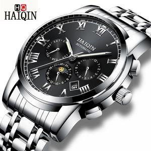 Haiqin New Automatic Negócios Relógios Mecânicos Homens de aço inoxidável impermeável Sports Relógio Relógio Masculino