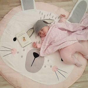Play Mat Cartoon Animal Baby Mats Newborn Infant Crawling Blanket Cotton Round Floor Carpet Rugs Mat for Kids Room Nursery Decor KKF 001