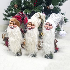 Silicona Santa Claus Wine Bottle Cover XMAS Bottle Holder Dinner Table Decoration Home Home Christmas Party Xmas Tree Decors
