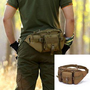 Paquete de cintura táctico de utilidad Bolsa para acampar militar Senderismo Bolsa de cinturón de Fanny al aire libre
