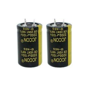 JCCON horn aluminum electrolytic capacitor 100v2200uf volume 25x40 Inverter power