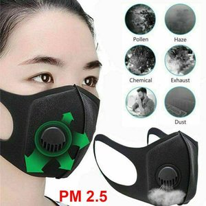 Unisex Reusable Sponge Face Mask Dust Mask Filter PM2.5 Air Pollution Winter Mouth Mask Reusable with Breathing Valve Haze Dust Washable