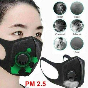 Unisex wiederverwendbare Sponge-Gesichtsmaske Staubmaske Filter PM2.5 Luftverschmutzung Winter-Mund-Wiederverwendbare Maske mit Atemventil Haze Staub Waschbar