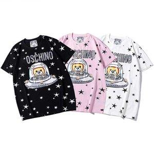 Kısa kollu Crystal payetler Gömlek Moda Kadın Gömlek boyut S-xxl baskı SICAK Marka MOS mektup Erkek O yaka t shirt Hip Hop 01