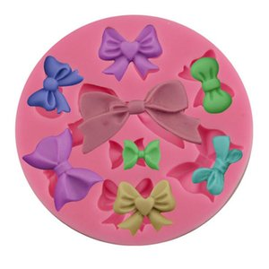 Noeud papillon Moule silicone mode bricolage nouveau moule en silicone de qualité alimentaire gâteau crème glacée au chocolat Accessoires de cuisine Décorations WY326Q