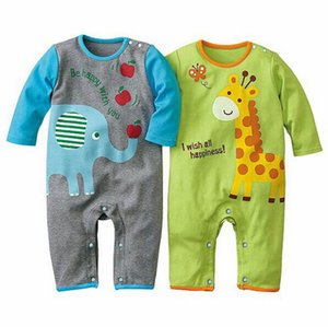 Lovely Causal Toddler Baby Girls Boys Romper Long Sleeve Cartoon Animal Print Style Outfit
