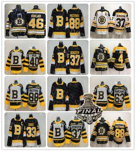 2019 Noir Troisième Boston Bruins Hockey Jersey Zdeno Chara Patrice Bergeron Tuukka Rask David Krejci Brad Marchand David Pastrňák Orr Krug