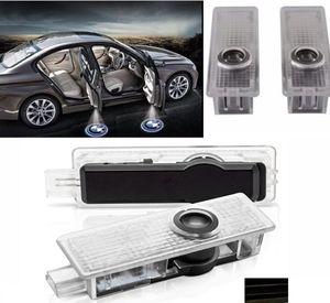 Fantasma 2Pcs Sportello d'auto Ombra benvenuto Logo del proiettore di luce Emblem Accessori Luci di cortesia passo per la BMW X5 E70 E90 E60 E87 F20 E92 E91 E61