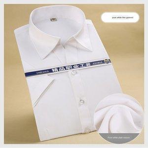 Women's business wear V-neck short sleeve shirt bank 4S shop Bank shirt 2020 Summer White