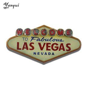 Bienvenido a Fabulous Las Vegas Nevada Carteles de chapa de metal Retro Forma irregular Pintura Placa Bar Pub Club Home Decoración de pared Tp-011 Y19061804