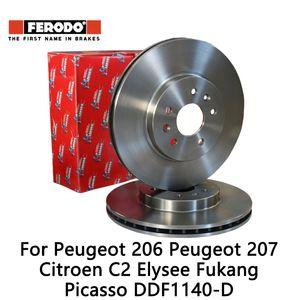 2 adet / 206 207 C2 Elysee Fukang Picasso DDF1140-D için Ferodo Araç ön fren disk seti