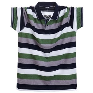 Men Polo Shirt Summer Men Casual Breathable Plus Size 5xl Striped Short Sleeve Polo Shirt Cotton Business Men Clothes Tops Tees T200528