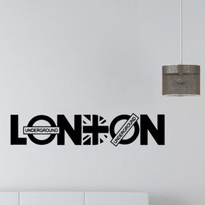 London Sticker Flag Frase Vinyl Wall Decals Wallpaper For Office Room Wall Stickers Living Room Vinyl Mural