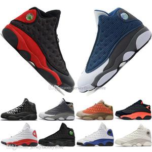 La meilleure qualité 13 13s chapeau et robe en terre cuite fard à joues Hommes Chaussures de basket-ball chat noir Flints infrarouge femmes Bred Hommes Sport Chaussures de sport EUR36-47