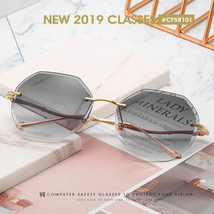Customized popular Frameless sunglasse Umanco 2019 New Style Rimless Sunglasses For Women Men Designer Frameless sunglasse Sole Collector