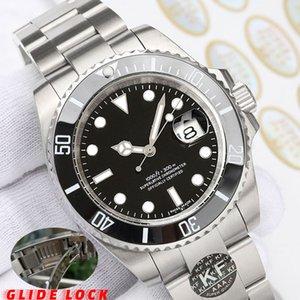 bloqueio Glide Moda Mecânica Automatic Movimento homens Gmt varredura mão mulheres Cerâmica Diamante Mens Watch Relógios de pulso homem