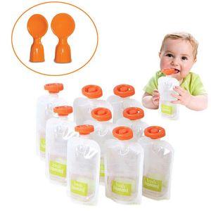 Bpa Free Baby Food Storage Bags Make Organic Food Fresh For Newborn Toddler Squeeze Fruit Juice Pouch 10Pcs-50Pcs dUWQl