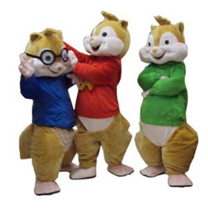 Büyük indirim! Yüksek kaliteli Yeni Alvin ve Sincaplar Maskot Kostüm Alvin Maskot Kostüm Ücretsiz Kargo