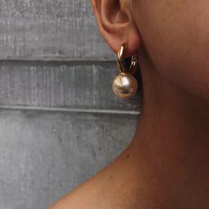 Créatrice de bijoux de mode perle ronde Big Boucles d'oreilles en or de haute qualité pour les femmes Pendants d'oreilles de luxe élégant Marque Bijoux SH190930